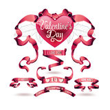 Vector set of valentines day banners Stock Photo