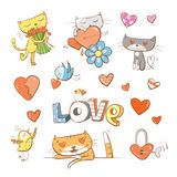 Vector set by Valentines Day. Royalty Free Stock Photo