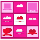 Vector set of  valentines day Stock Image