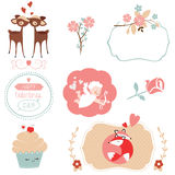 Vector set for Valentines Day Royalty Free Stock Photos