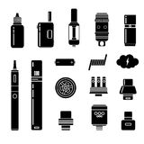 Vector Set of Vape Icons. Stock Photography
