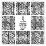 Vector set of various doodles cable stitch patterns. Stock Images
