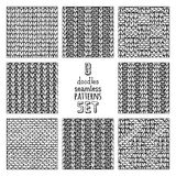 Vector set of various doodles stitch patterns. Stock Photography