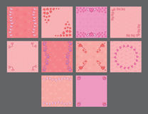 Vector set for various heart shape patterns Royalty Free Stock Image