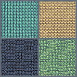 Vector set of various knitting patterns. Royalty Free Stock Images
