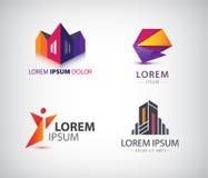 Vector set of various logos. Royalty Free Stock Photo