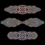 Bracelet ethnic cliche with  decorative elements. Royalty Free Stock Image
