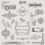 Vector Set: Various Retro Design Elements Stock Image