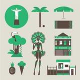 Brazillian icons Stock Image