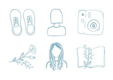 Vector set of various travel icons vector illustration