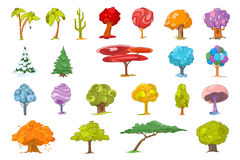 Vector set of various trees illustrations. Stock Photography