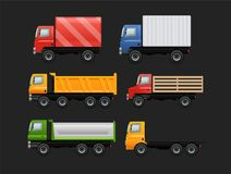 Vector set of various urban and city cars vector illustration