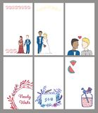Vector set of various wedding templates Stock Photo