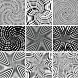 Vector set of vector background. Vector set of twirl black and white backgrounds Stock Photos