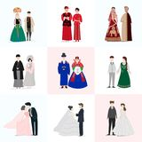 Vector set of Vector different dressing people Royalty Free Stock Images