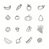 Vector set of vegetable Stock Image