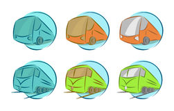 Vector set of vehicle icons Royalty Free Stock Photo