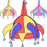 Vector set venetian carnivalesque jester cap Stock Images