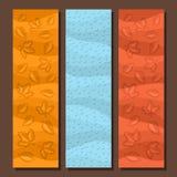 Vector set vertical banners for Autumn season Royalty Free Stock Photos
