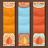Vector set vertical banners for Autumn season Royalty Free Stock Image
