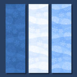 Vector set vertical banners for Winter season Royalty Free Stock Images