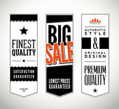 Vector set of vertical vintage labels Royalty Free Stock Image