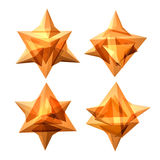 Vector set of views of transparent complex geometric shape Royalty Free Stock Image