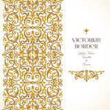 Vector set of vignettes, borders in Victorian style. Stock Photos