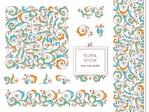 Vector set vignettes in Eastern style. Royalty Free Stock Photography