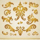 Vector set of vignettes. royalty free illustration