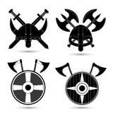 Vector set of  viking icons  on white Royalty Free Stock Image