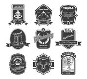 Vector set of vintage alcohol labels Royalty Free Stock Image