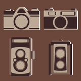 Vector set of vintage camera Stock Image