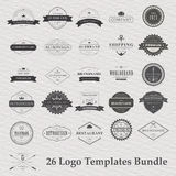 Vector set of vintage camping logo Royalty Free Stock Image