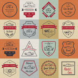 Vector Set of Vintage Car Badges and Sign Royalty Free Stock Images