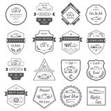 Vector Set of Vintage Car Badges and Sign Royalty Free Stock Photos