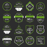 Vector Set of Vintage Car Badges and Sign Stock Photos