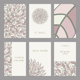 Vector Set of vintage cards  templates editable. Stock Photo