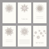 Vector Set of vintage cards  templates editable.Template for scr Stock Photography