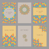 Vector Set of of vintage cards  templates  in ethnic Ame Stock Photography
