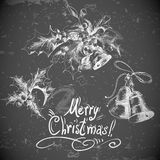 Vector set vintage Christmas design elements Stock Photo