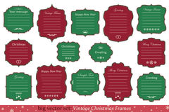 Vector Set of vintage christmas frames. Big Vector Set of vintage christmas frames on white background Royalty Free Stock Images