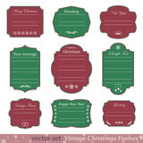Vector set of vintage christmas frames. On white background Royalty Free Stock Images