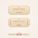Vector set of vintage cinema tickets Stock Photos