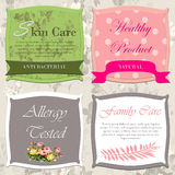 Vector set. Vintage cosmetic labels Stock Photos