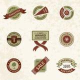 Vector set vintage decor elements. ribbon stamps Stock Photo