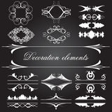 Vector set of vintage decoration elements. Vector set of  decoration elements Royalty Free Stock Photos