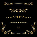Vector set of vintage decorative elements. Royalty Free Stock Image