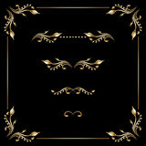 Vector set of vintage decorative elements. Royalty Free Stock Photos