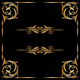 Vector set of vintage decorative elements. Stock Photos